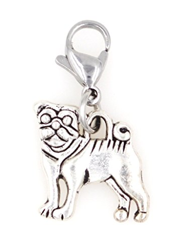 It's All About...You! Pug Dog Puppy Clip on Charm Perfect for Necklaces Bracelets 101E ()