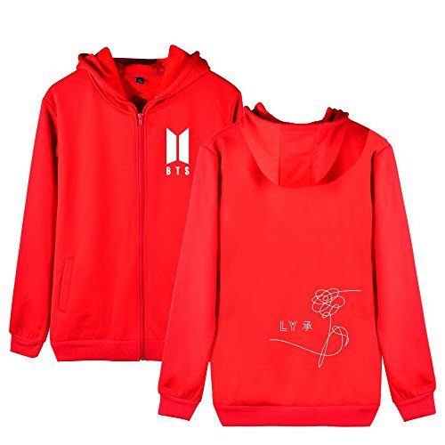 Yourself Lunghe Love Con Cappuccio Maniche Red Cerniera Donne Gogofuture Unisex Felpe Sweatshirt Cappotto Popolare Hoodie Bts E Uomo Per Giacche w8xF4qC