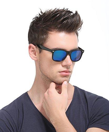 soleil Homme Glace Lunettes de Bleue Noir AMZTM 6pqF1wxf