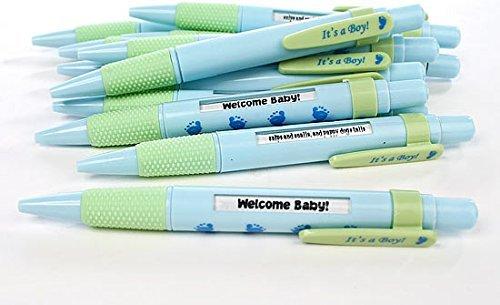 24 It's A BOY Message Pens - BLUE - BIRTH ANNOUNCEMENT - SHOWER Favors Keepsakes