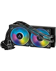 ARCTIC Liquid Freezer II 240 A-RGB - Multi-Compatible All-in-one CPU AIO Water Cooler with A-RGB, Compatible with Intel & AMD, efficient PWM-Controlled Pump, Fan Speed: 200-1800 RPM - Black