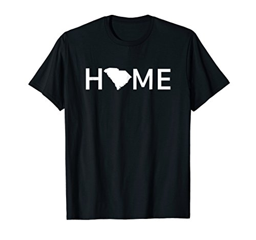 South Carolina Home Love US State Outline Silhouette T-Shirt