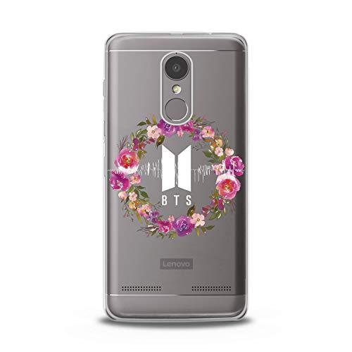 Lex Altern TPU Case for Lenovo Phone K8 Note K6 Note 2017 K5 Plus Z5 Floral BTS Design Smooth Gift Korean Music Girl Print Clear Men Slim fit Soft Flexible -