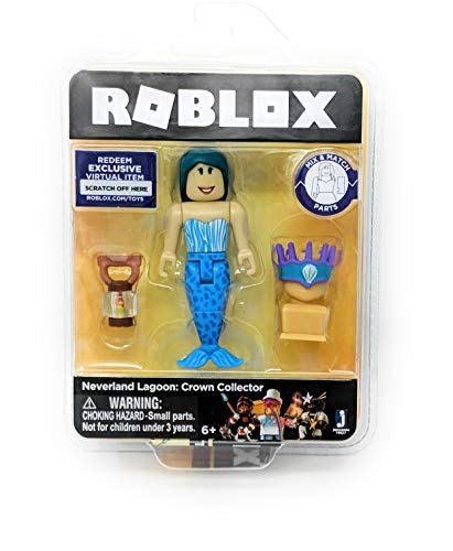 Roblox Gold Collection Neverland Lagoon: Crown Collector Mermaid Single Figure Pack with Exclusive Virtual Item Code