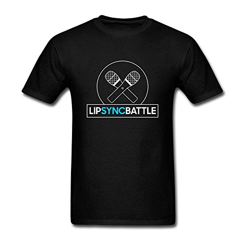 Uoolttr Mens Lip Sync Battle Logo T Shirt Black M