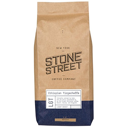 Lite Farm Source (Stone Street Coffee Ethiopian Yirgacheffe (Africa) Fresh Roasted Coffee, Fresh Ground, Light Roast, 2 lb Bag, Single Origin)