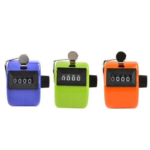 UPC 700953683441, Bluecell Pack of 3 Color Handheld Tally Counter with 4 Digit Display for Lap/Sport/Coach/School/Event