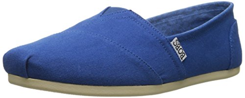 Skechers BOBS From Women's Plush Peace and Love Flat, Royal Blue, 6.5 M US by Skechers