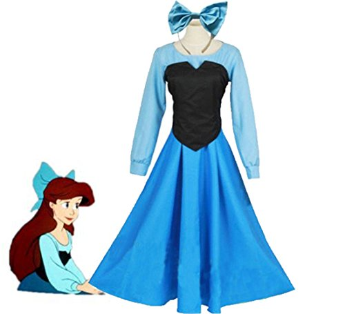 [The Little Mermaid Ariel Mermaid Princess Dress Women Party Cosplay Costumes (Asian Size L)] (Ariel Dress For Adults)