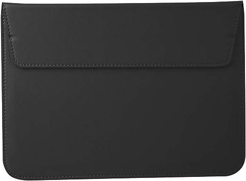 ASHATA Bolsa para Computadora Portátil,Funda Protectora para Laptop 13/13,3 Pulgadas,Funda de Notebook como Soporte de PC.(Diseño del sobre, PU + Material de Fieltro)(Negro): Amazon.es: Electrónica