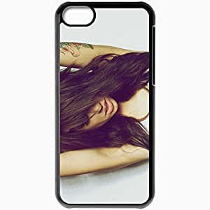 Personalized iPhone 5C Cell phone Case/Cover Skin Alie Layus Hair Brunette Tattoo Black by supermalls