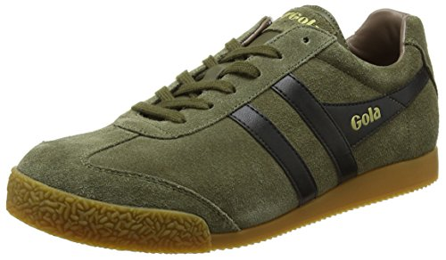 Gola Men's Harrier Fashion Sneaker Light Khaki/Black/Stone