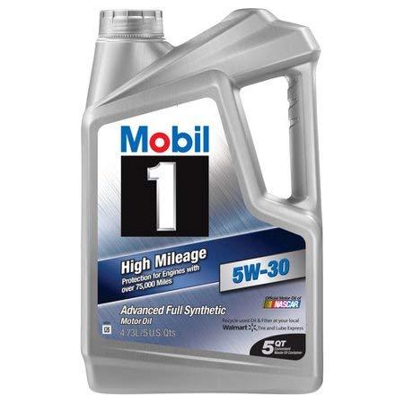 Mobil 1 (120769-3PK) High Mileage 5W-30 Motor Oil, 5 Quart, Pack of 3