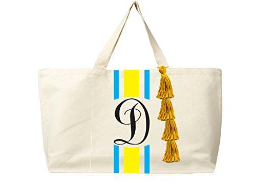 Amore Bellezza Borsa fasciatoio monogramma fatto mano tela sacchetto di spiaggia il Gifts regalo per amico