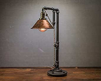 industrial style table lamp pendant edison bulb copper shade. Black Bedroom Furniture Sets. Home Design Ideas