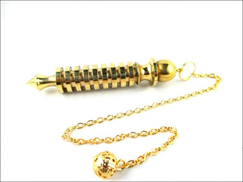 Egyptian Pendulum (JET Quality 9 Plate Ring Brass Metal Isis Pendulum Healing Dowsing A++ Metaphysical)