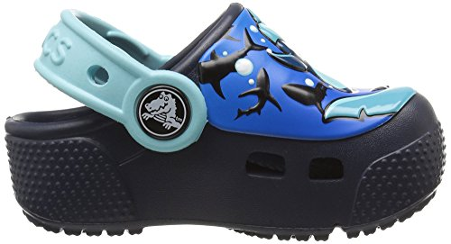 Fun Zuecos Azul Clog Lab Crocs shark navy Niños Kids Lights Unisex gnZ1n6xd