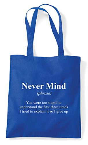 Dictionary Never In Funny Tote Definition Not Mind The Alternative Shopper Purple Bag rxTqwr
