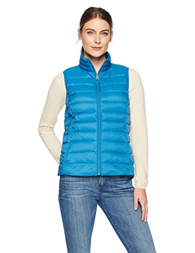Amazon Essentials Women's Lightweight Water-Resistant Packable Down Vest, Teal Seaport, X-Large