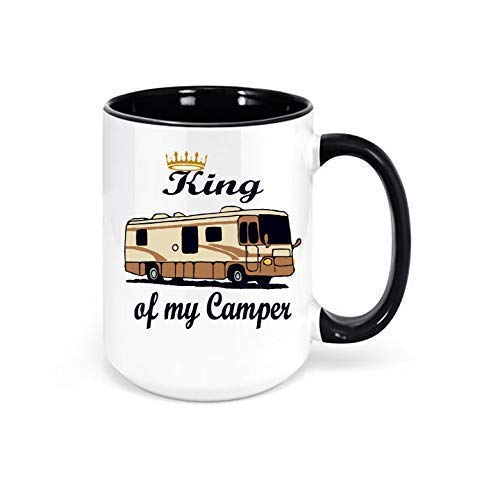 King of my Camper Class A Motorhome Mug, Camping Coffee Mug, Motorhome Decor