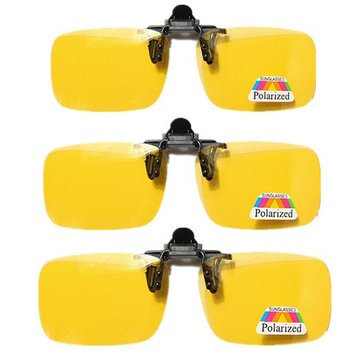 77de1b42455 Buy Generic Clip-on Flip-up Sunglasses Night Vision Glasses  Lens-Yellow-Small Online at Low Prices in India - Amazon.in