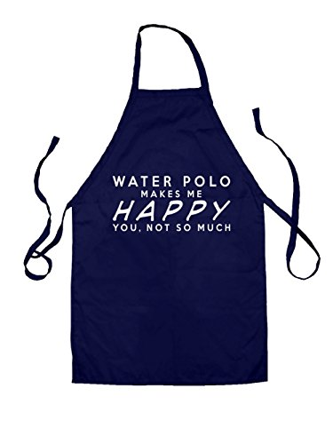 WATER POLO Makes Me Happy You, Not So Much - Kids Apron - Navy-7-10YRS