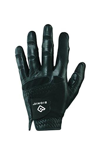 Bionic GGNBMLM Men's StableGrip with Natural Fit Black Golf Glove, Left Hand, Medium
