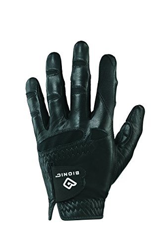 (Bionic GGNBMLML Men's StableGrip with Natural Fit Black Golf Glove, Left Hand, Medium/Large)