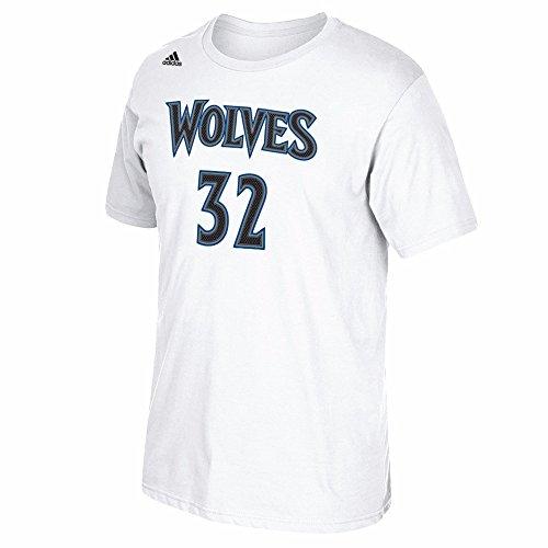 Adidas Karl-Anthony Ciudades Minnesota Timberwolves NBA Color Blanco Nombre y número Jugador Equipo de Jersey Color Camiseta de Manga Corta para Hombre, S, ...