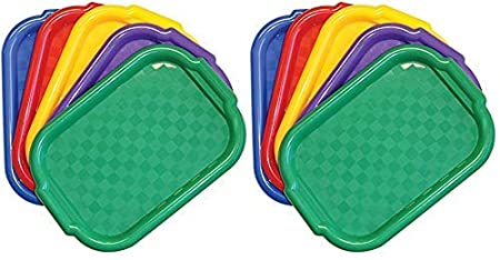 Set of 5 Jack Richeson Plastic Jack Riches on 400995 Multi Color Art Trays
