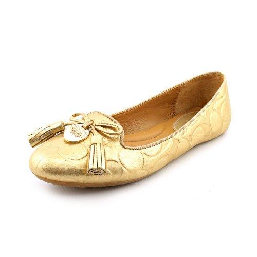 UPC 887180088062, Coach Women's Dahlila Flat, Gold, Size 7.0