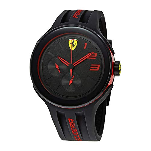 - Ferrari Men's 830223 FXX Red-Accented Black Watch