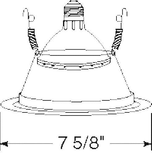 Juno Lighting 27B-WH 6-Inch Tapered Downlight Cone, White Trim with Black Alzak