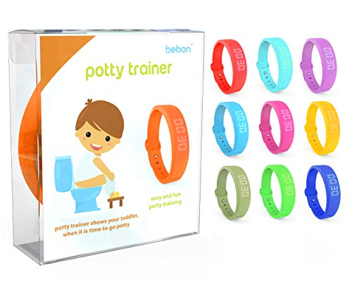 Potty Trainer  New Upgraded Version  Toilet Trainer for Kids Makes Potty Training Easier  Watch with Extra Wrist Band, Smaller Wrist Band Size, Water Resistant + More Colors (Orange + Blue)