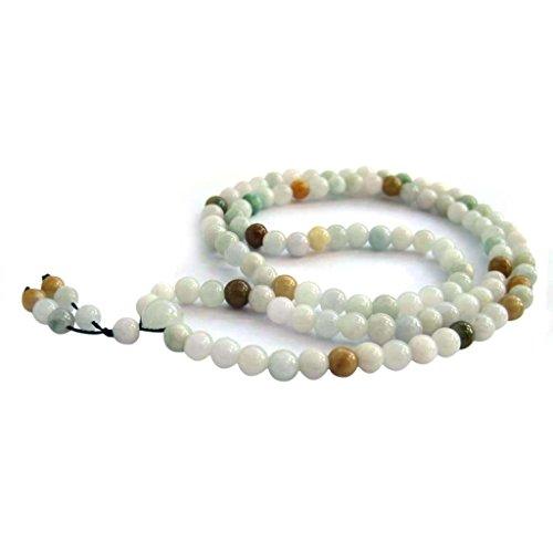 Small Beads 108 Jadeite Jade Beads Buddhist Prayer Japa Mala for Meditation - Made Jade Prayer Beads