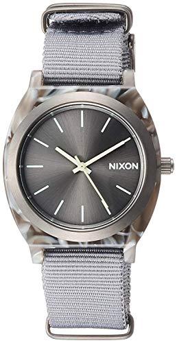 NIXON TIME TELLER ACETATE: GRAY/GUNMETAL NA3272635-001J [regular imported goods]