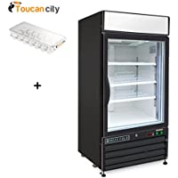 Maxx Cold X-Series 12 cu. ft. Single Door Merchandiser Refrigerator in Black MXM1-12RB and Toucan City Egg Holder