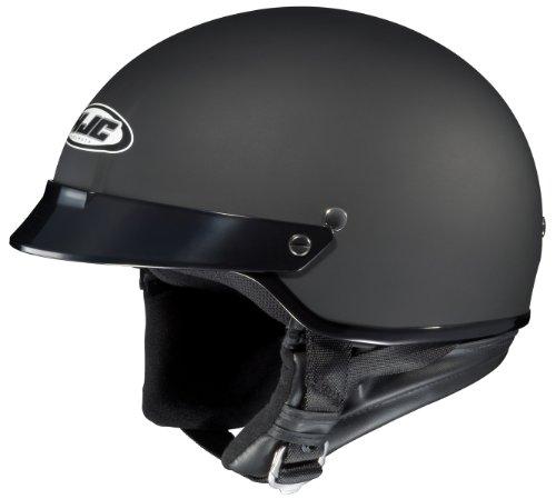 HJC CS-2N Motorcycle Half-Helmet (Flat Black, X-Large)
