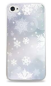 SMMNKOL?Lovely Frozen Snow Snowflakes Design Print White Silicone Case for iPhone 5 / 5S