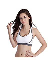 Changeshopping Women Padded Bra Top Athletic Gym Fitness Sports Yoga Stretch