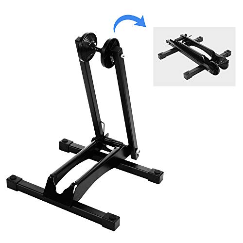 ONETWOFIT Portable Parking Stand Foldable Iron Bike Floor Rack for 20