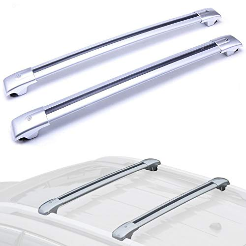 (MotorFansClub Top Roof Luggage Rack Cross Bar Rail with Key for Jeep Cherokee 2014-2019)