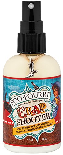 Poo-Pourri Before-You-Go Toilet Spray 4-Ounce Bottle, Crap Shooter - OLD BOTTLE STYLE