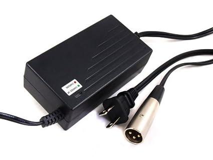 Cargador de batería de 24V 2A Scooter con conector XLR ...