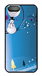 Christmas Melody Polycarbonate Custom iPhone 5S/5 Case Cover - Black