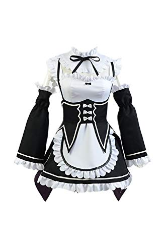 Ya-cos Re Life in a Different World from Zero Manga Zero Rem/Ram Maid Dress Outfit Cosplay Costume -