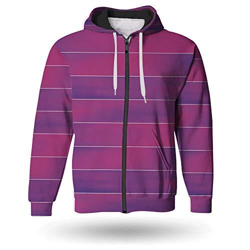 Transition Full Zip Hoody - iPrint Men's,Hot Pink,Full-Zip Hoodie