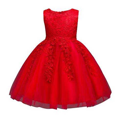 Zhengpin Summer Tutu Lace Dress for Girls,Wedding Formal Ball Party Princess Dresses 1-8Years ()