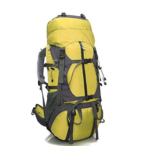 Alpinismo Al Aire Libre Mochila De Viaje 80L,Yellow Yellow