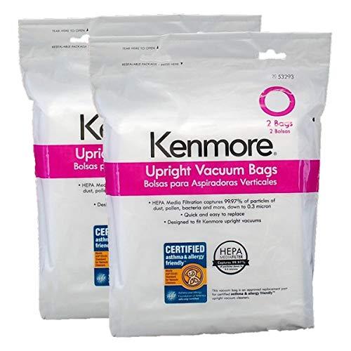 Kenmore Style O Vacuum bags Hepa Upright Bag Hepa 2 + 2 =4 Bags - Hepa Bags